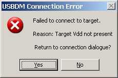 Ошибки USBDM