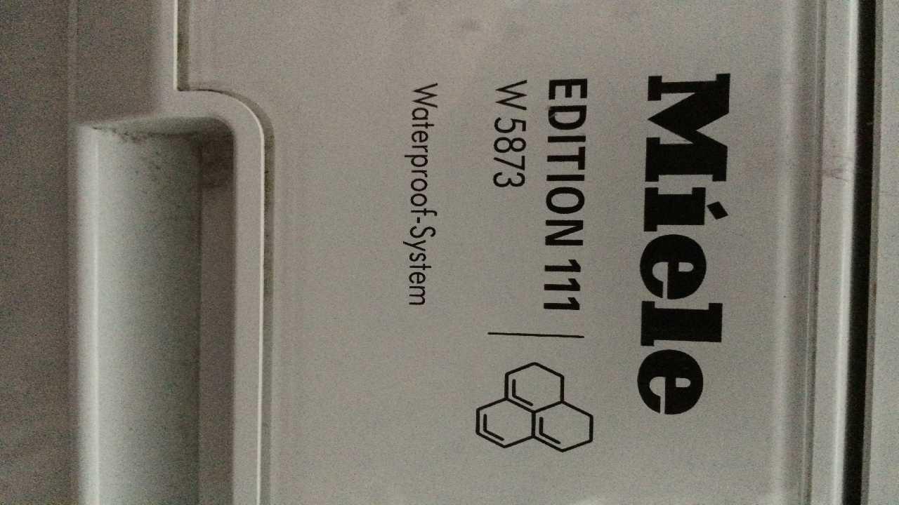 Стиральная машина Miele W5873, отжим с добавлением воды.