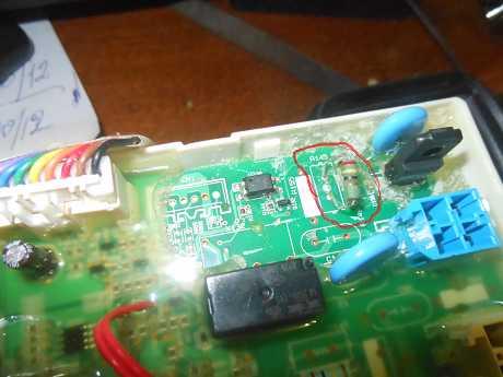СМА LG  INVERTER DirectDrive дымит и греется резистор R145