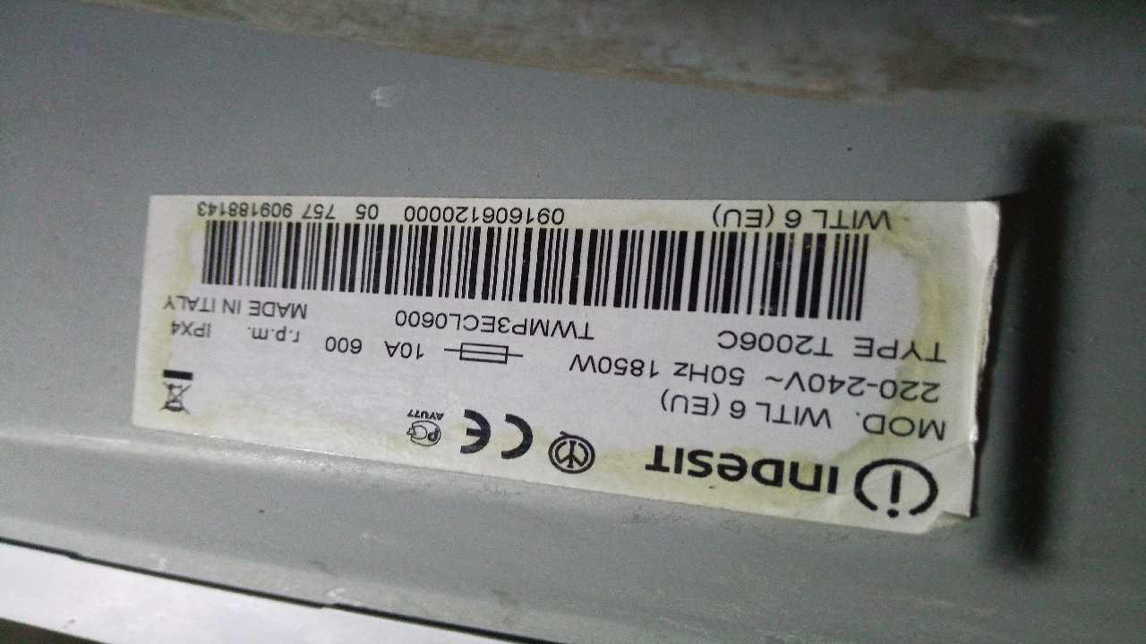 СМА INDESIT WITL6 (EU) 91606120000 * 909188143 SW01.03.09 нужна прошивка
