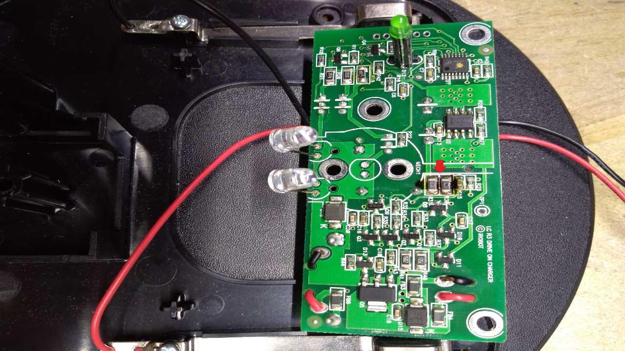 Опознать элементы модуля зарядки, пылесоса IRobot Roomba.