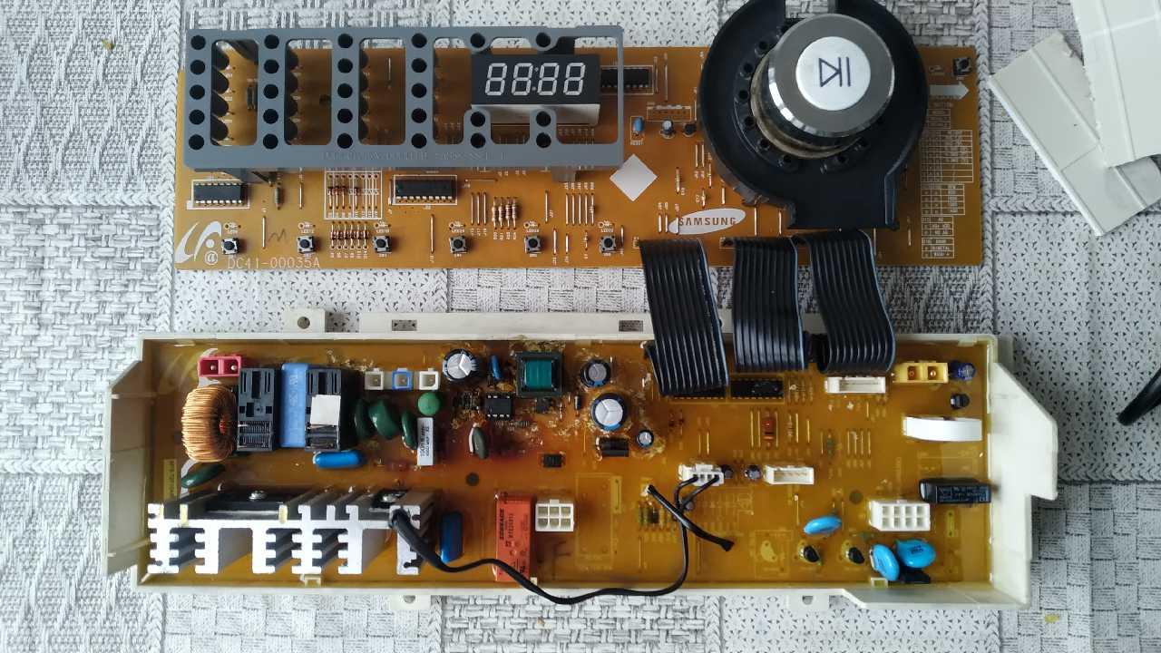 сма Samsung WF6450s4v нет запуска эл.блок при этом тихий писк из динамика