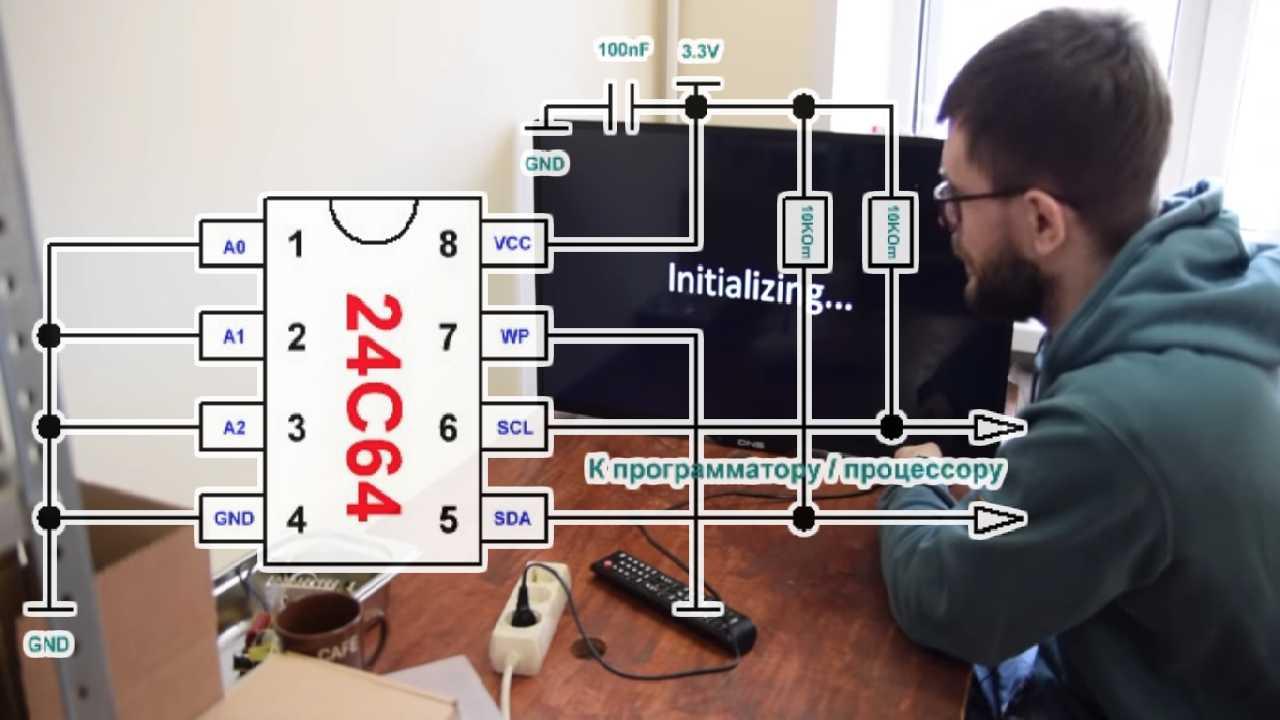 Прошивка Flash телевизора DNS через программатор CH341a