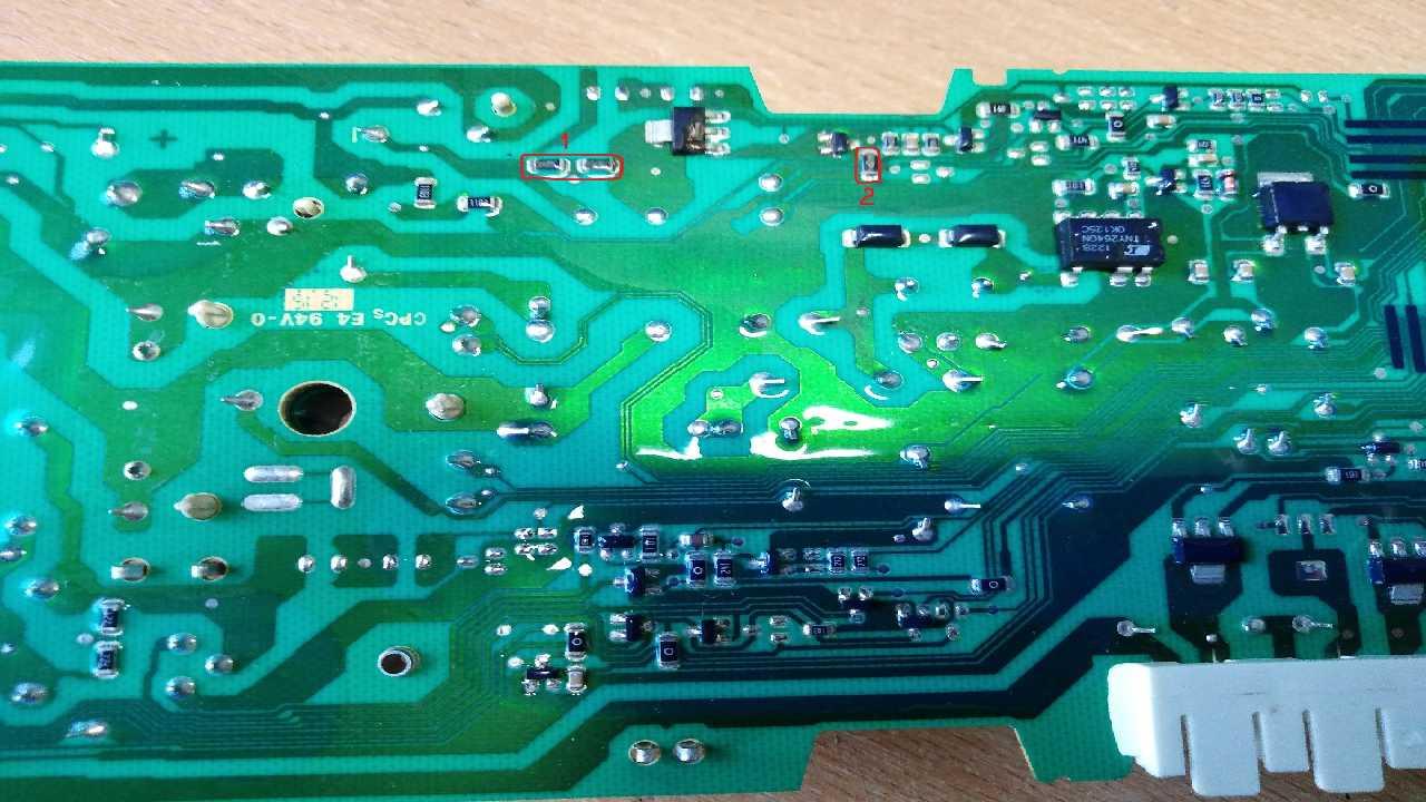 СМА Bosch Maxx 5. Помогите оределить сопротивление резисторов